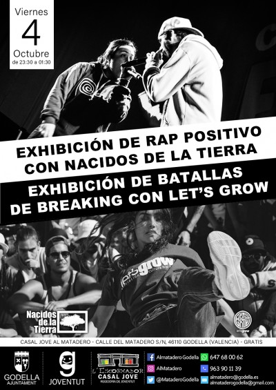 Exhibición de Rap Positivo y Break Dance en Godella